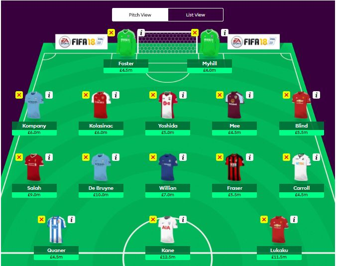 fantasy premier league GW1 hints