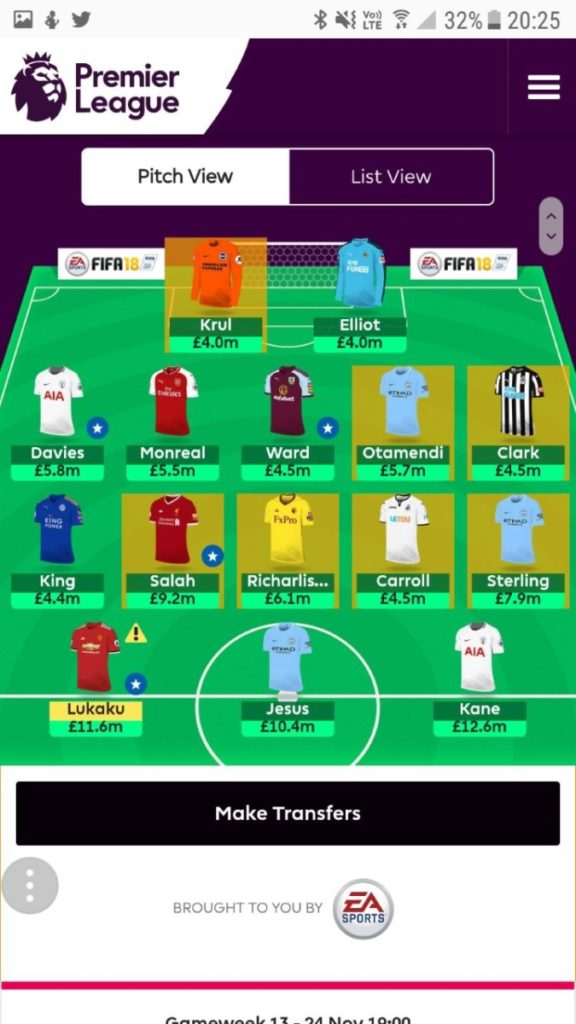 fantasy premier league wildcard tips