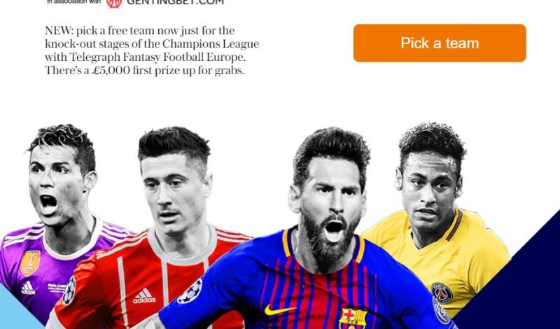 Telegraph fantasy football Europe - the Champions League knockout stages