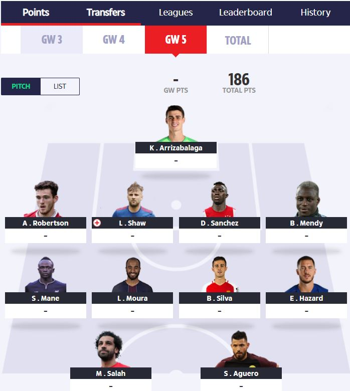 fantasy football tips – FFGeek teams in TFF, Sky and Sun for GW5