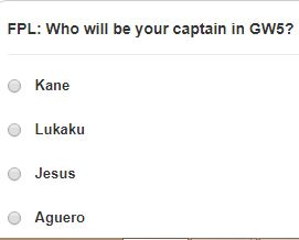 fantasy premier league GW5 captain