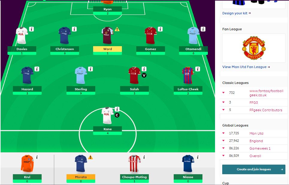 fantasy premier league GW18