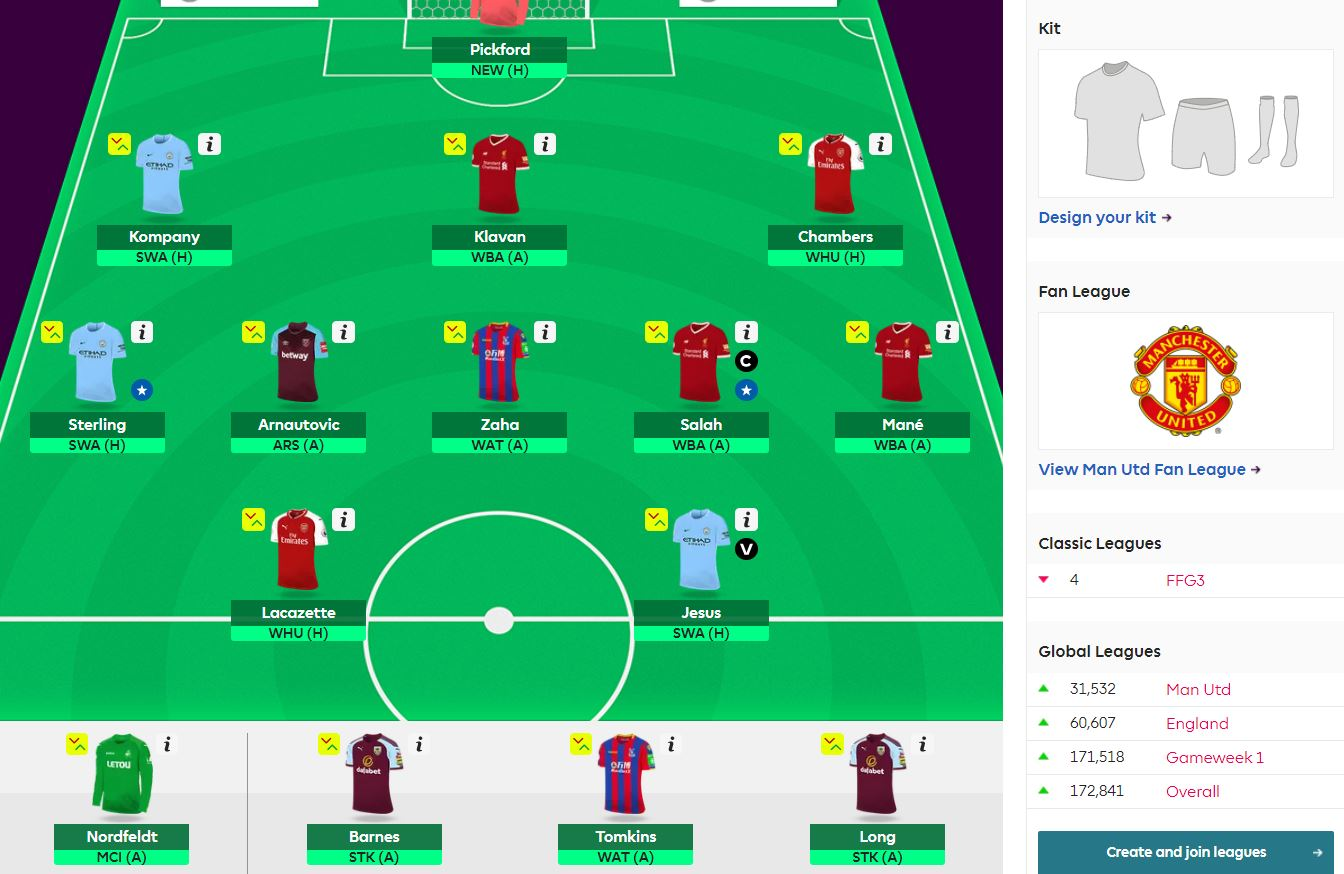 fantasy premier league gw35 team selection