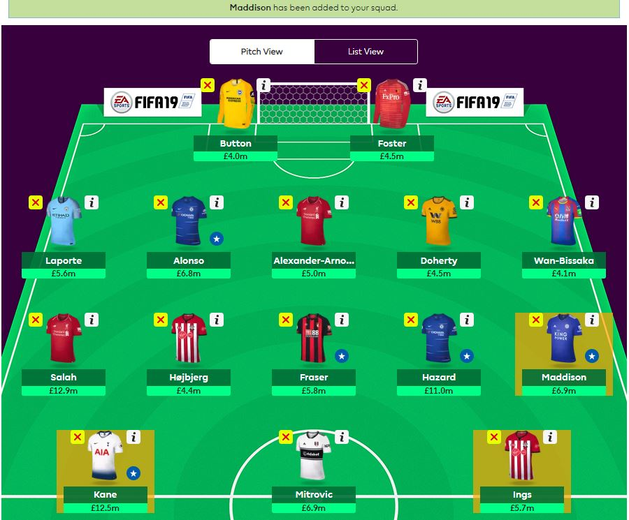 fantasy premier league wildcard tips GW8