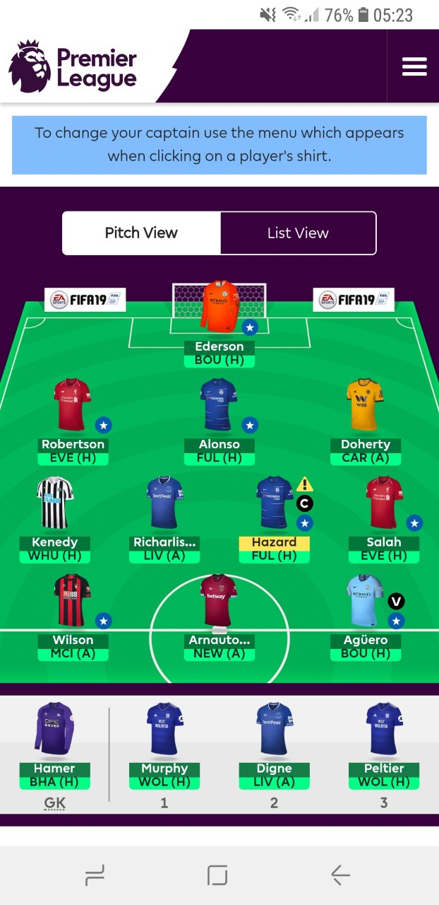 Fantasy premier league team tips GW14