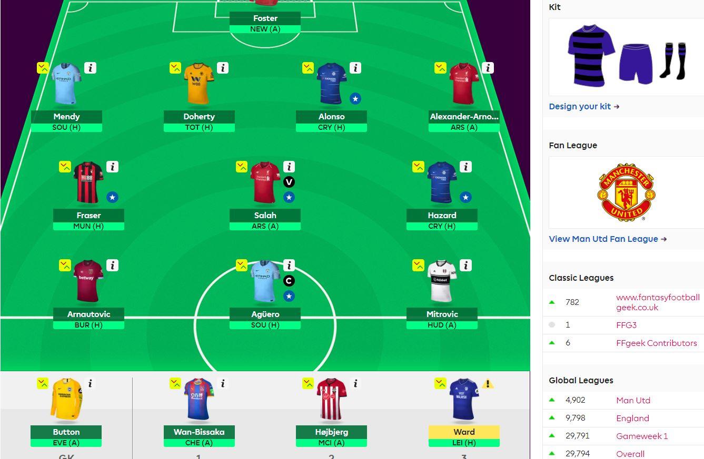 fantasy premier league team selection GW11