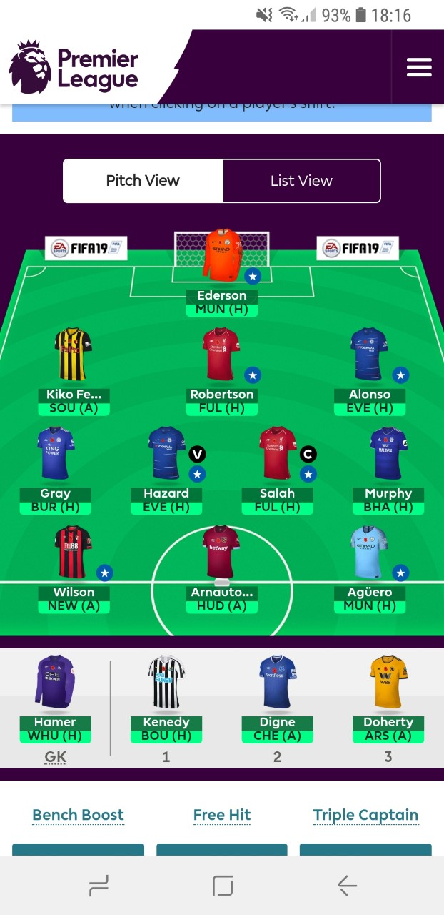 Fantasy premier league team tips GW12