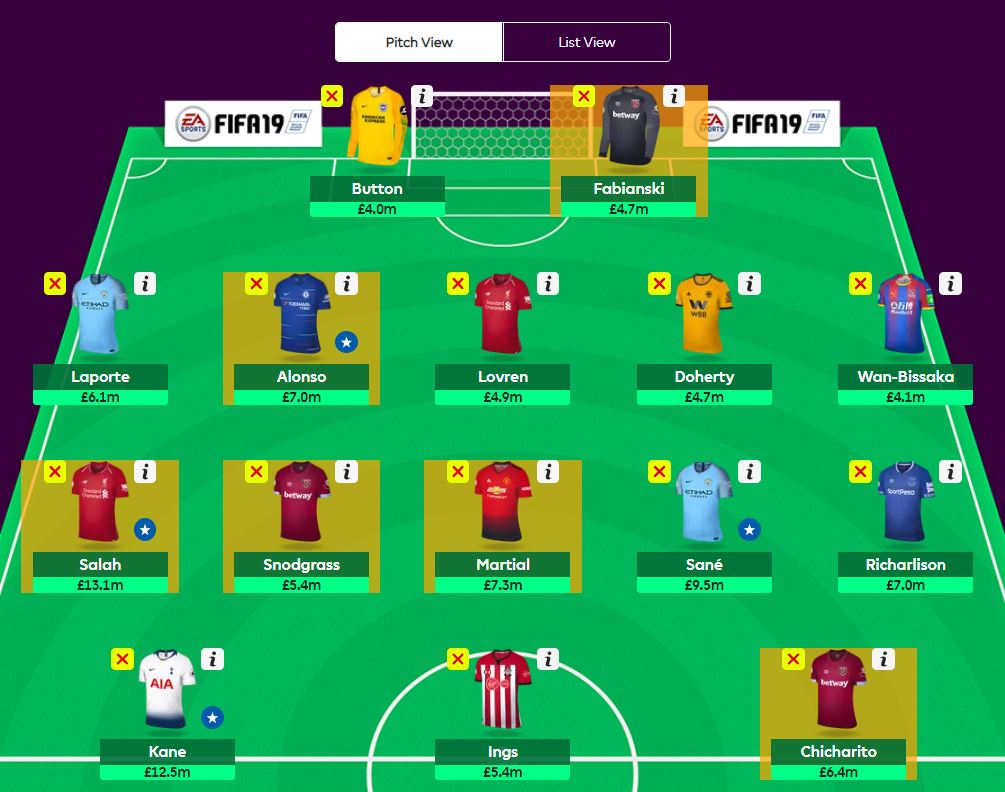 fantasy premier league wildcard tips GW18