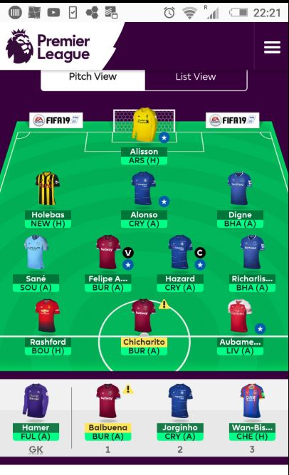 Salah and Digne in, Sterling and Roberson out.