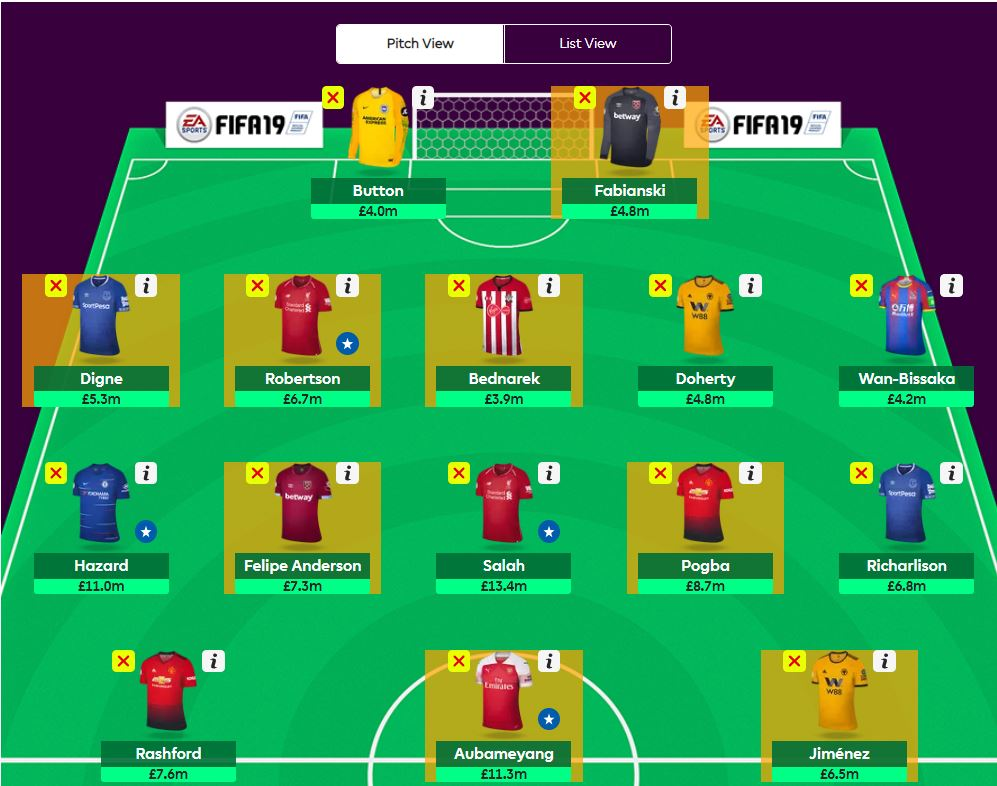 fantasy premier league team tips GW24