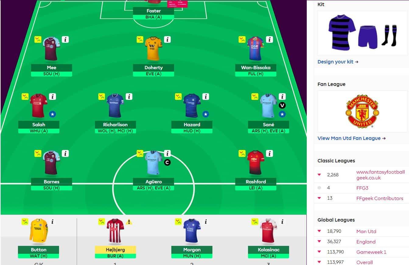 fantasy premier league team selection GW25