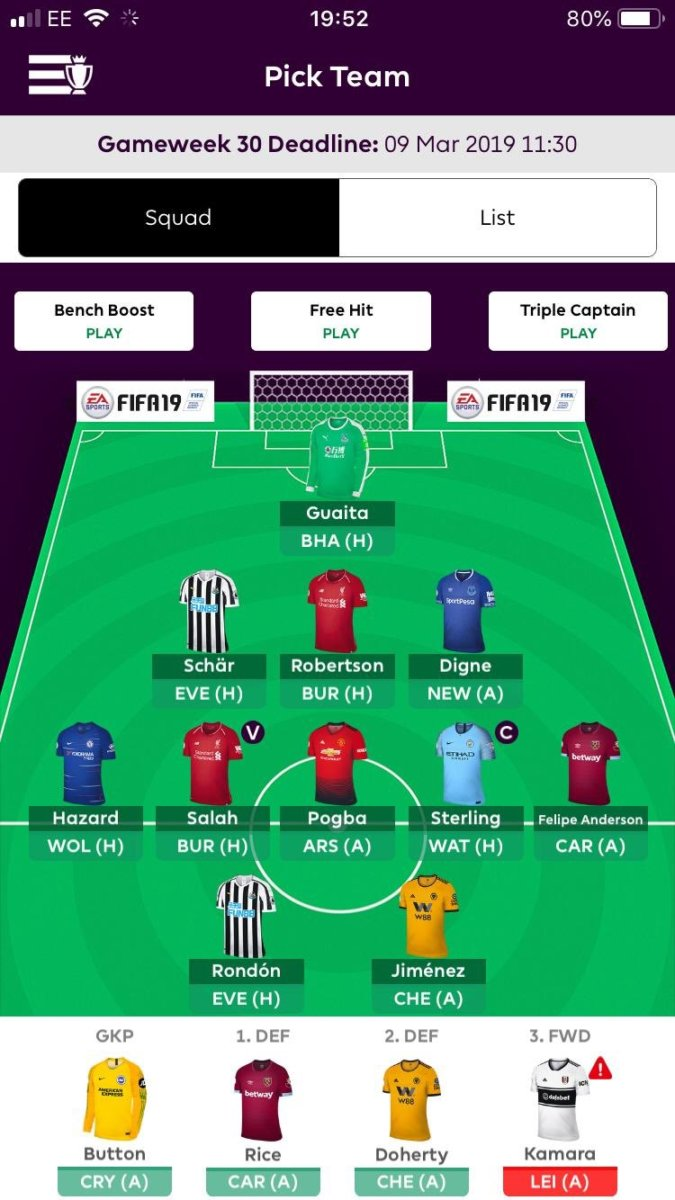 FPL team tips GW30