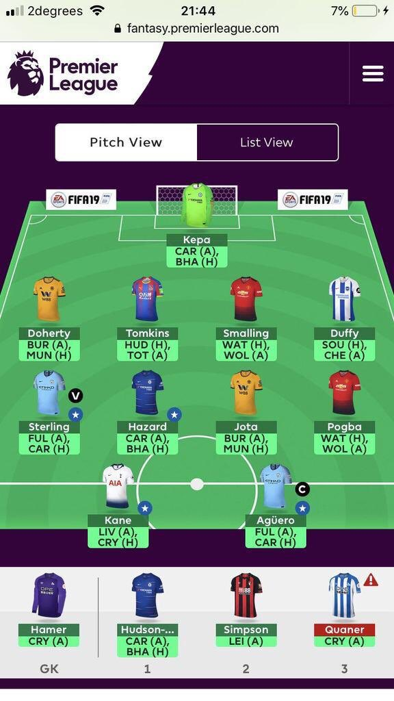 FPL double gameweek 32