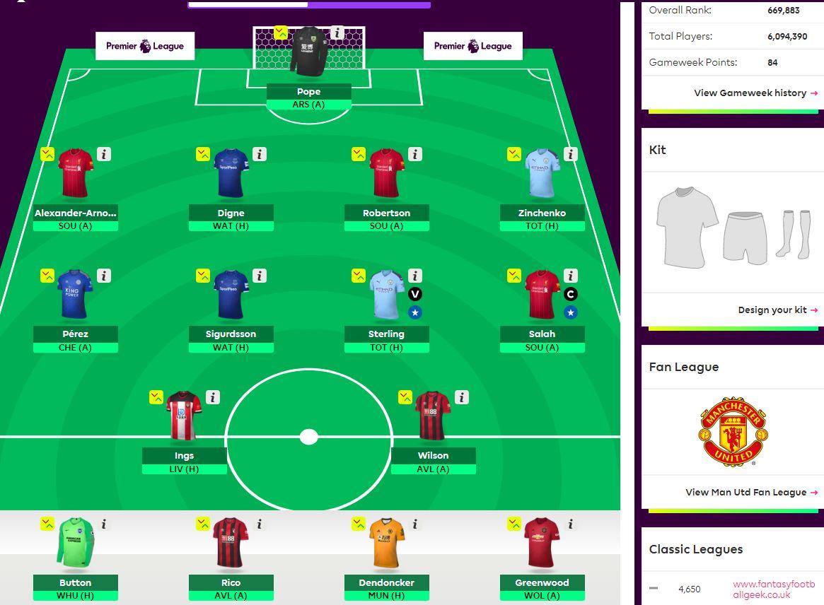 fantasy premier league GW2 team selection