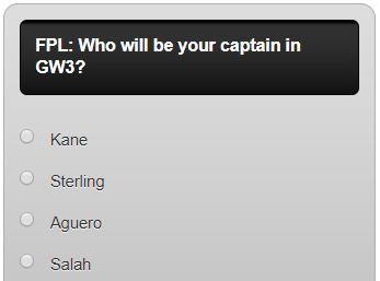 fantasy premier league GW3 captain poll