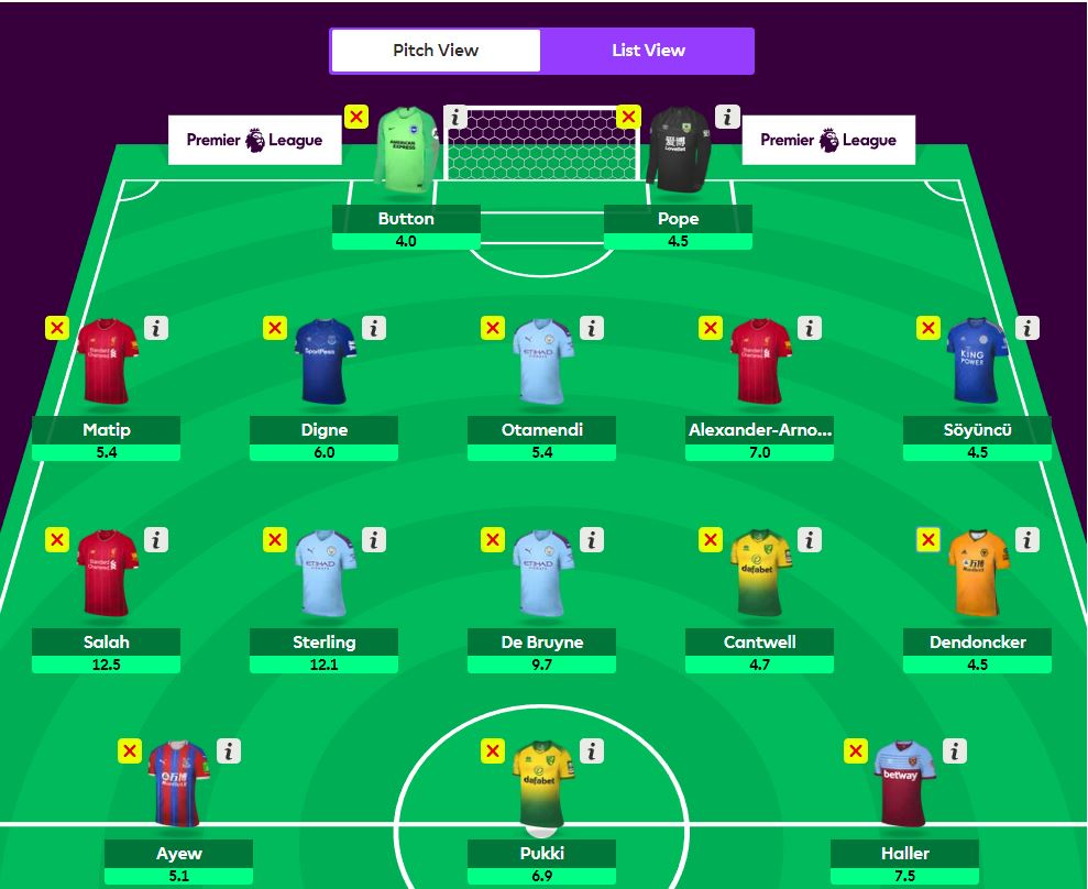 fantasy premier league wildcard tips GW5