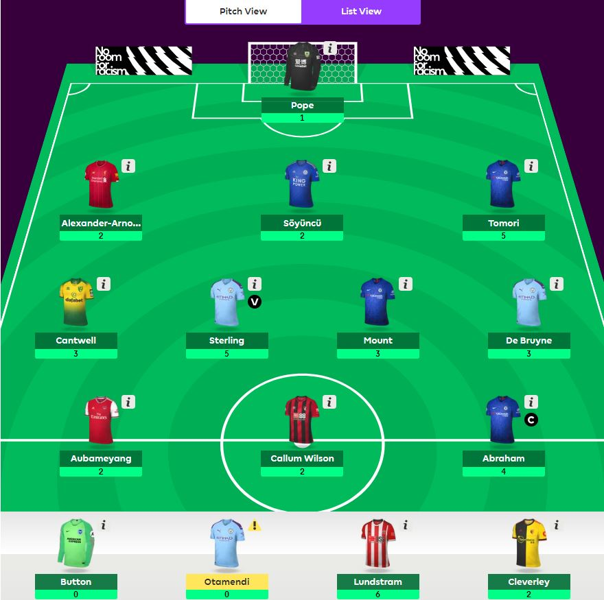 fantasy premier league teams GW10