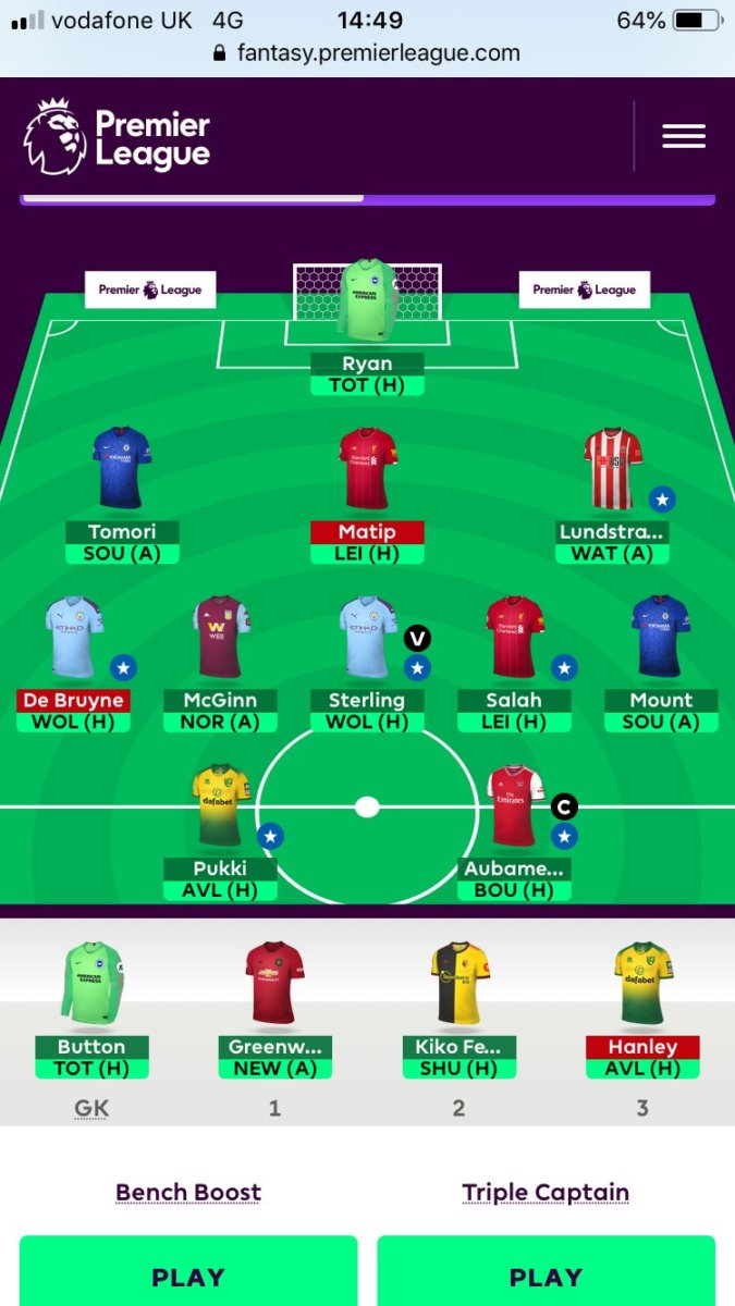 Fantasy premier league team tips GW8