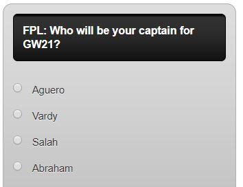 fpl captain poll GW21