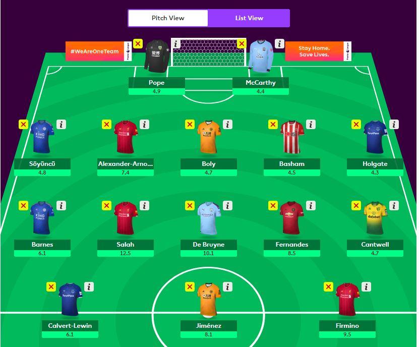 fantasy premier league team selection