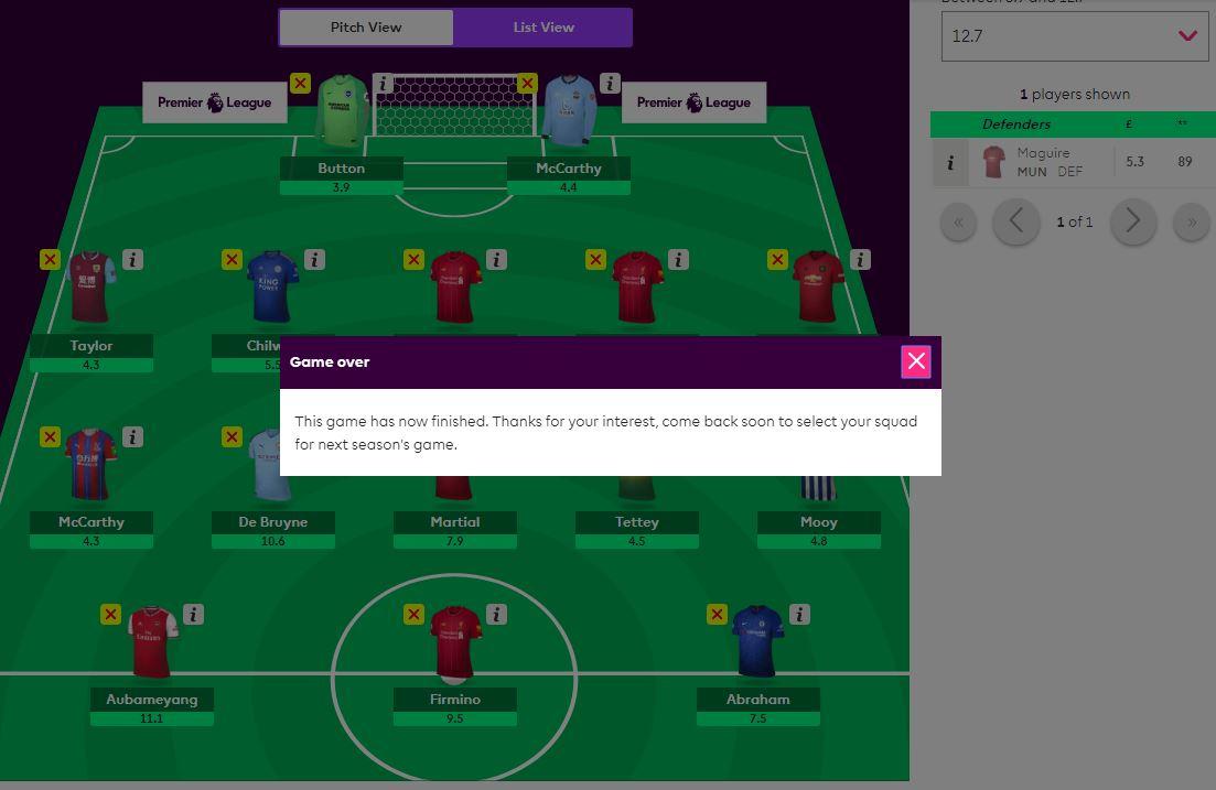 fantasy premier leaguewebsite