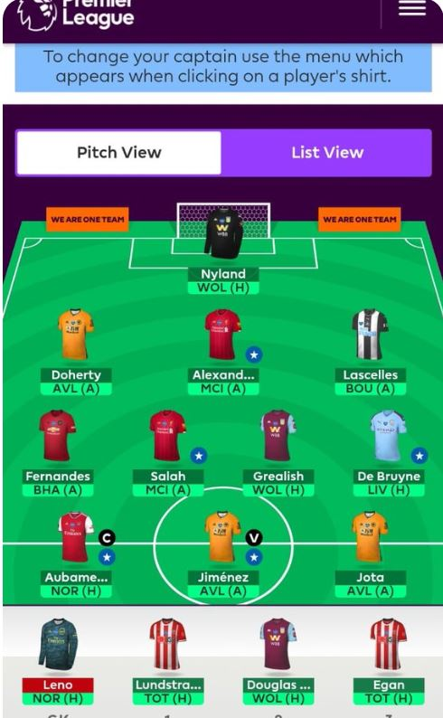 FPL team tips GW32