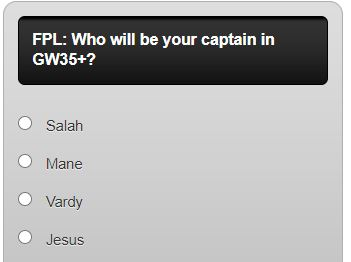FPL Captain Poll GW35