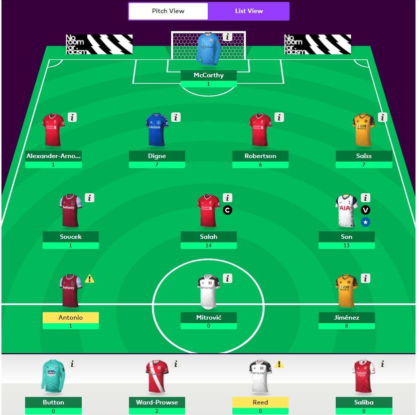 fantasy premier league team selection gw6