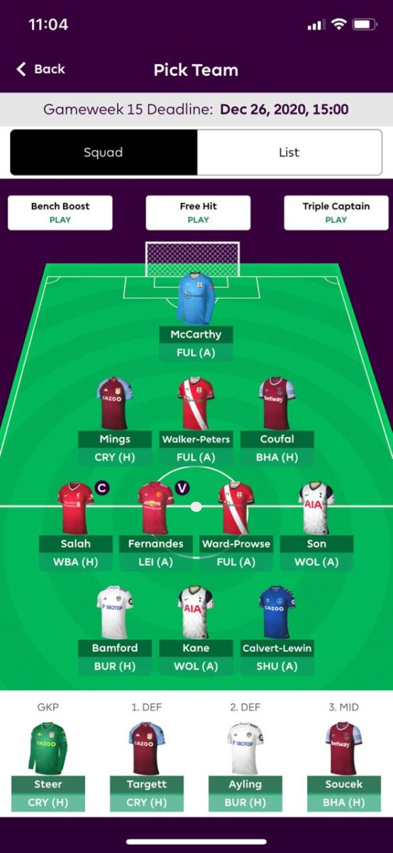 fpl team tips GW15