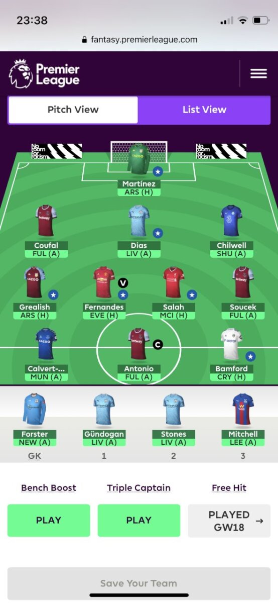FPL teams GW23