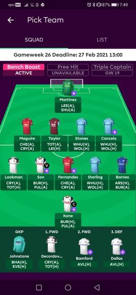 fpl teams DGW26