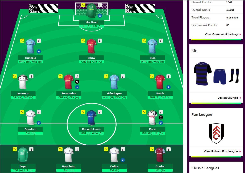 fantasy premier league team selection DGW26