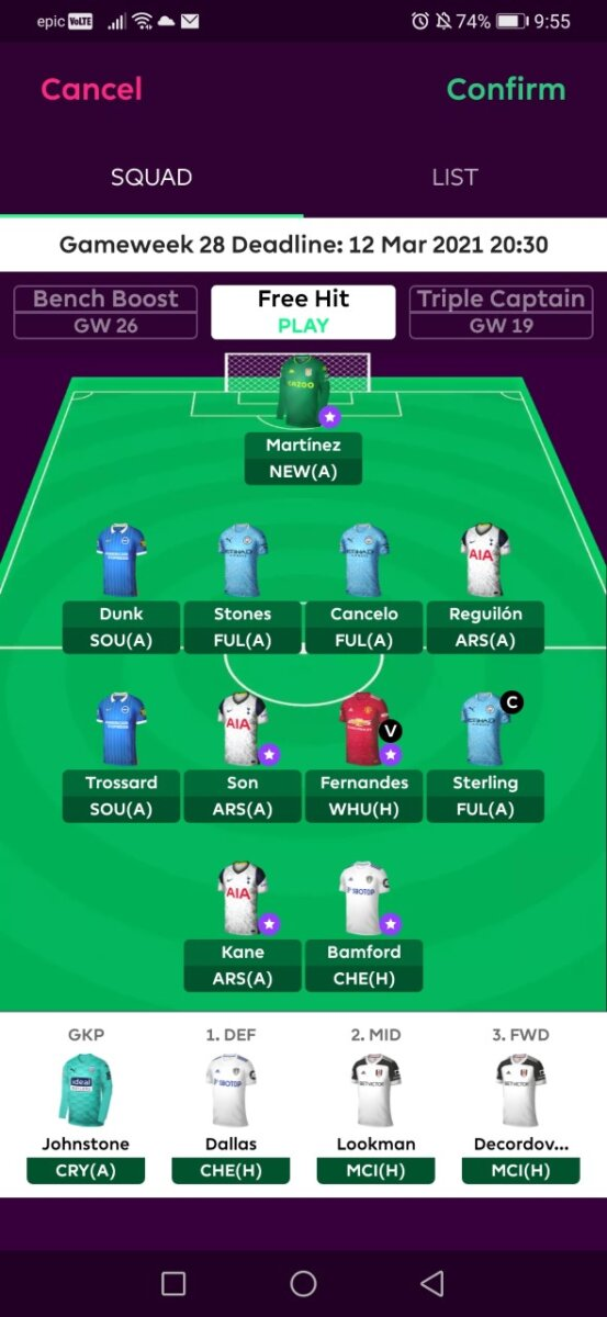 fpl teams GW28