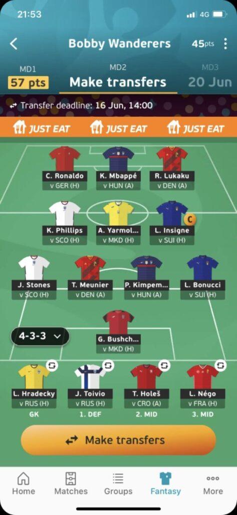 Euro 2020 Fantasy Team Tips